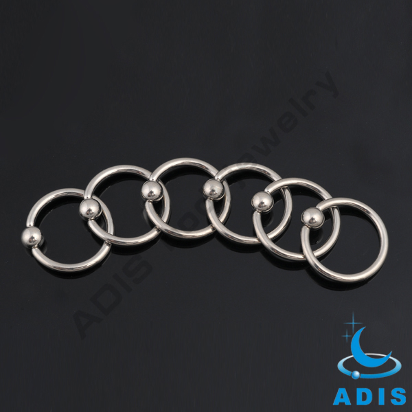Hot selling G23 Titanium BCR jewelry piercings nose ring with ball wholesale