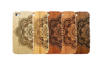 Mandala Design Mobile Phone Back Cover,Wood Mobile Phone Shell for iphone 6 Cover