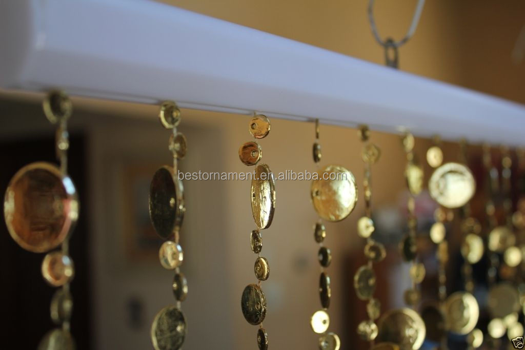 Gold Champagne Bubbles Hanging Beaded Curtains Plastic Bead ...