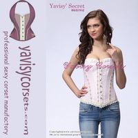 factory price hot sale pink women's sexy corset lingerie and flexible corset