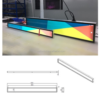 34 inch 1920*120 resolution ultra-wide stretched bar LCD monitor and display signage VS-340HDDB