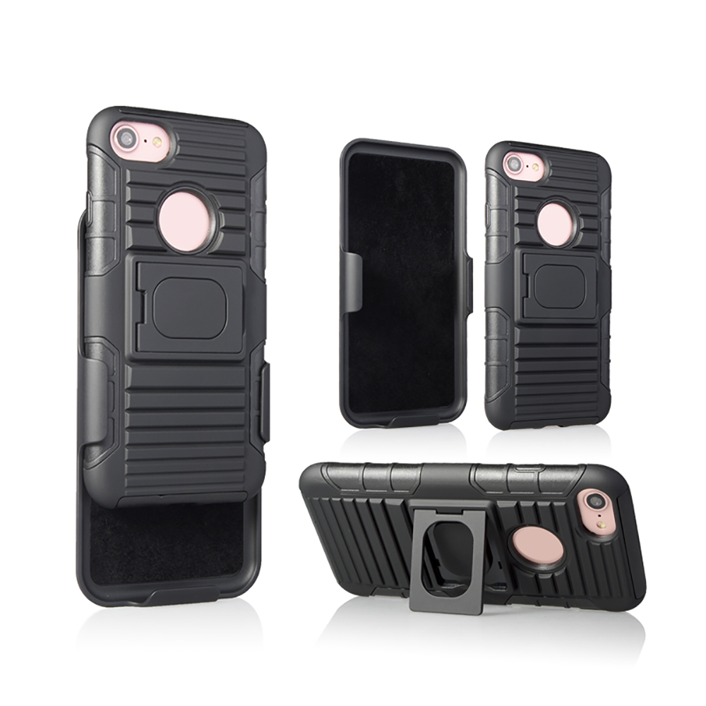 Hot selling products in USA heavy duty rugged armor cover case for iphone 8 holster