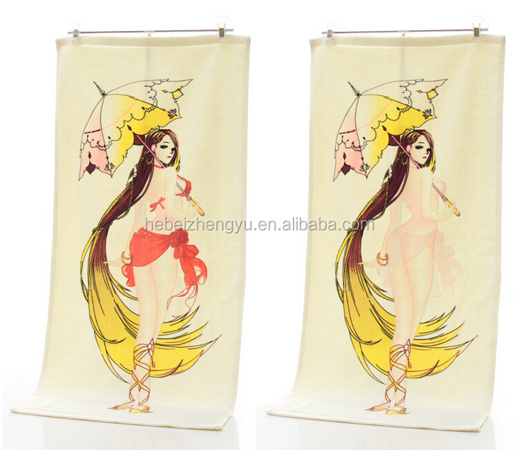 custom photo velvet face towel for home use, color changing towel