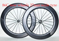 dengfu 2015 OEM super light 700C 86mm road bike clincher carbon aero wheelset/rim, U shape clincher carbon wheelset/rim