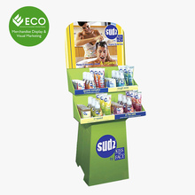 Shampoo Promotion Cardboard Floor Display Stands On Sell
