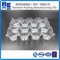 Bigsize sturdy hard transparent plastic packaging tray for egg packing