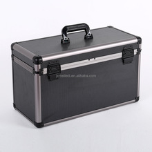 Professional black aluminum flight storage equipment foam case