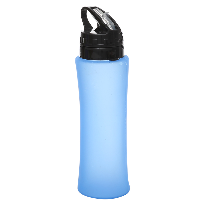 Everich 650ml BPA Free Collapsible Foldable Silicone Water Bottle for Outdoor and Sports