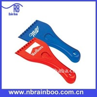 promotional plastic ice scraper with long handle