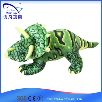 Any size and color child toy 100% pp stuffing simulation new triceratops animals seat belts pillow baby toys