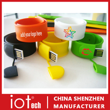 Silicon Wristband Slap Band Bracelet 2GB 4GB 8GB USB Flash Drive