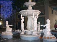 large garden figure fountain watering sculpture