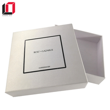Wholsale embossed paper custom design package box with logo