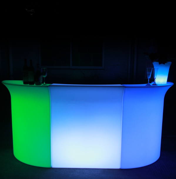 night club lighted up led used high bar tables led colorful bar furniture
