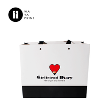 Cheap White Luxury Ribbon Handles Gift Shopping Custom Printed Paper Bags With Your Own Logo