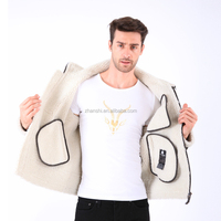 Latest Design OEM Clothing Fashion English Winter Faux Shearling Coats Mens
