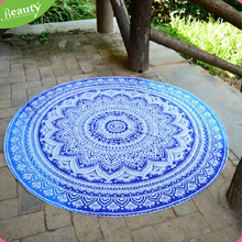 Fashion Lady New Beach Circular Sunscreen Shawl Printed Round Chiffon Shawl Beach mat