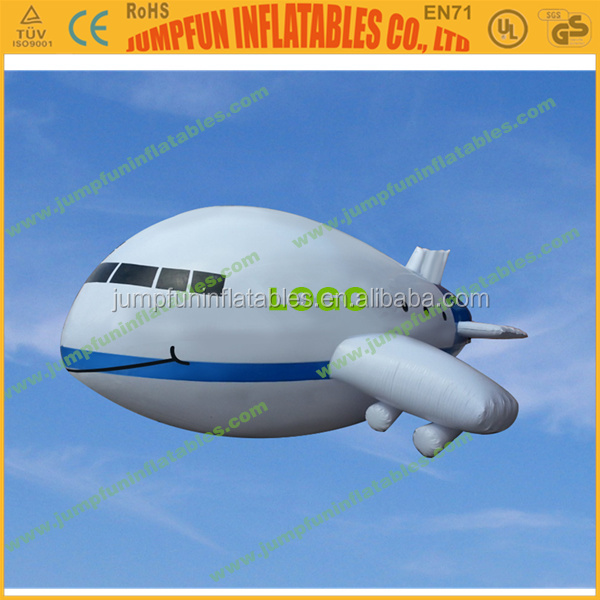 6meter advertising blimp/Helium plane for advertising/Inflatable helium balloon for sale