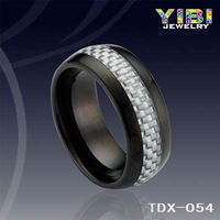 Black Plating Bijoux Imitation Jewelry Carbon Fiber Tungsten Ring Penis Band