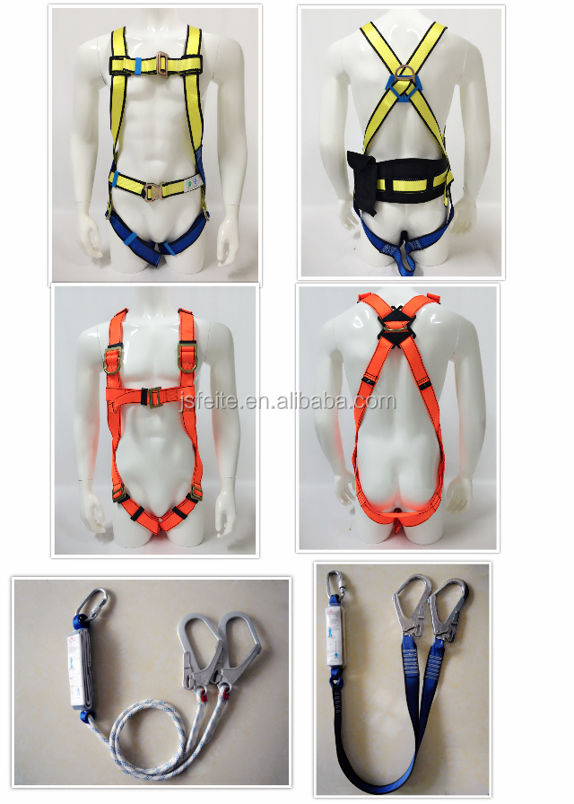 Full Body Safety Harness Built-in lanyard & snap hook