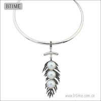 Angel Feather Pendant alloy Necklace freshwater pearl necklace