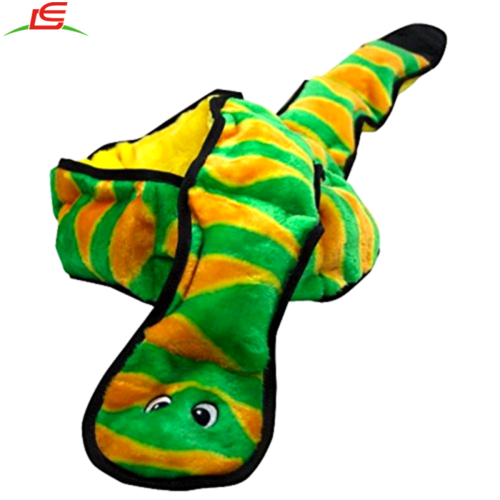 Durable Puppy Fun Play Plush Snake Dog Toy