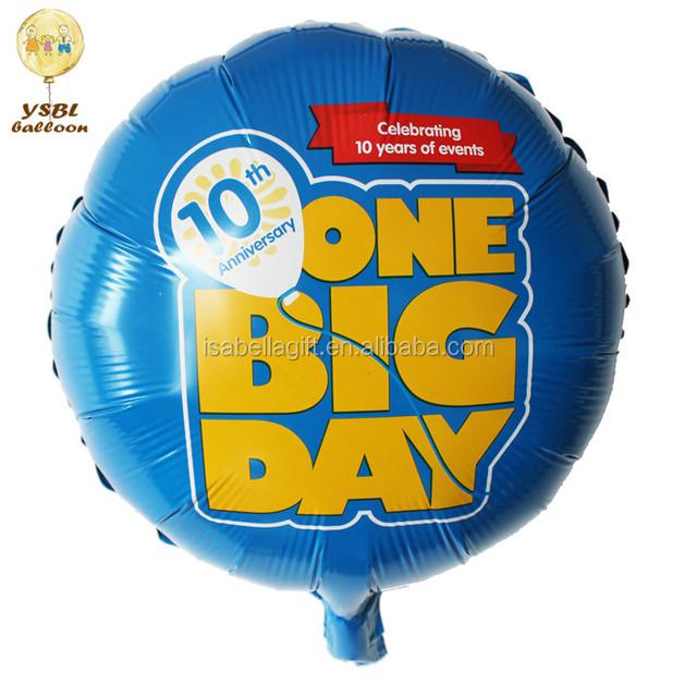 custom logo / brand foil helium balloons, printable balloons