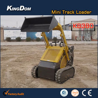 Compact Track Multi Terrain Loaders,mini front end loader with digger/backhoe/grapper/digger/4in1 bucket