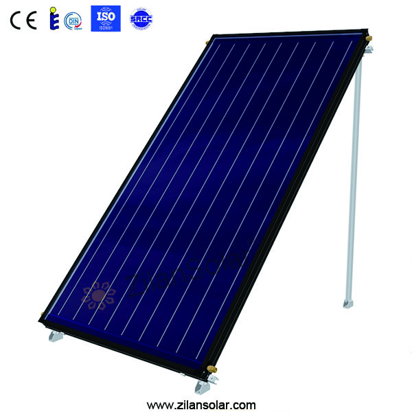 2016 hot sale high efficiency blue chorm tinox flat plate solar collector