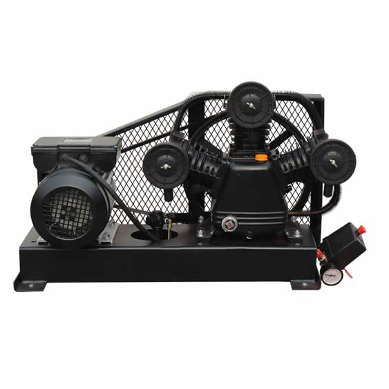 MTA65 AIR PUMP base mounted 3HP 2.2KW belt drive compressor without tank