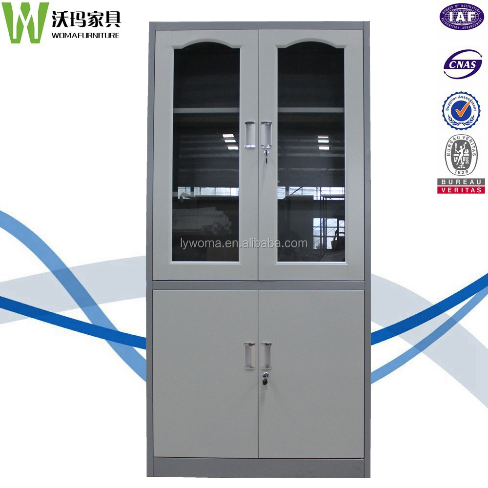 Cold-rolled Steel office furniture glass swing door filing cupboard/metal dental storage cabinets