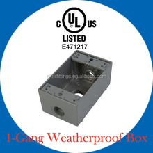 UL listed one gang weatherproof outlet box for wiring