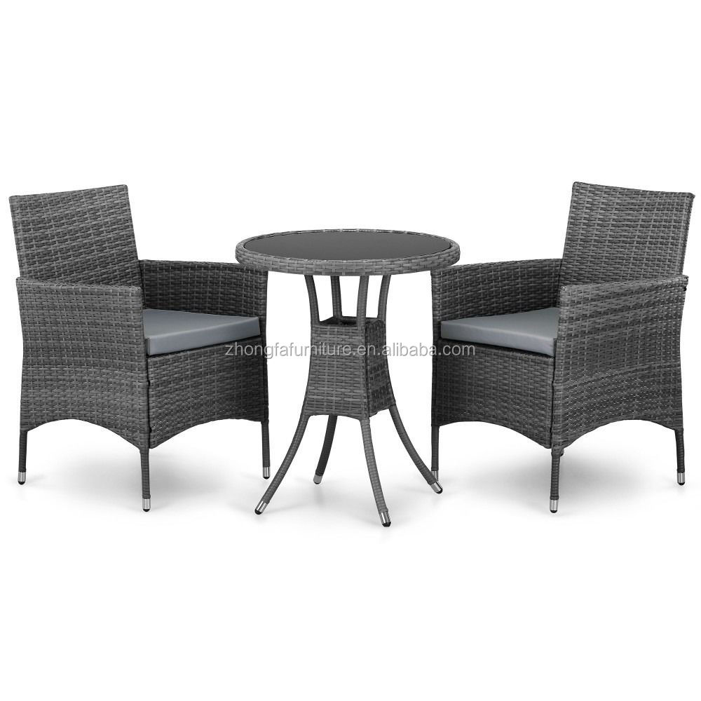 Garden Furniture Outdoor Patio 2 Seat Sofa Chairs Round Table