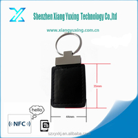 Access control rfid plastic/leather key tag