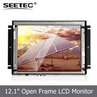 "12.1"" TFT Touch Screen Monitor bus video lcd advertising player"