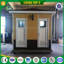 Colored Prefab Portable toilet in warehouse/ portable toilet price in prefab home supplier/ luxury public toilet in blue