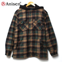 manufacturers in china high quality polar fleece men plaids jacket garment stock lot