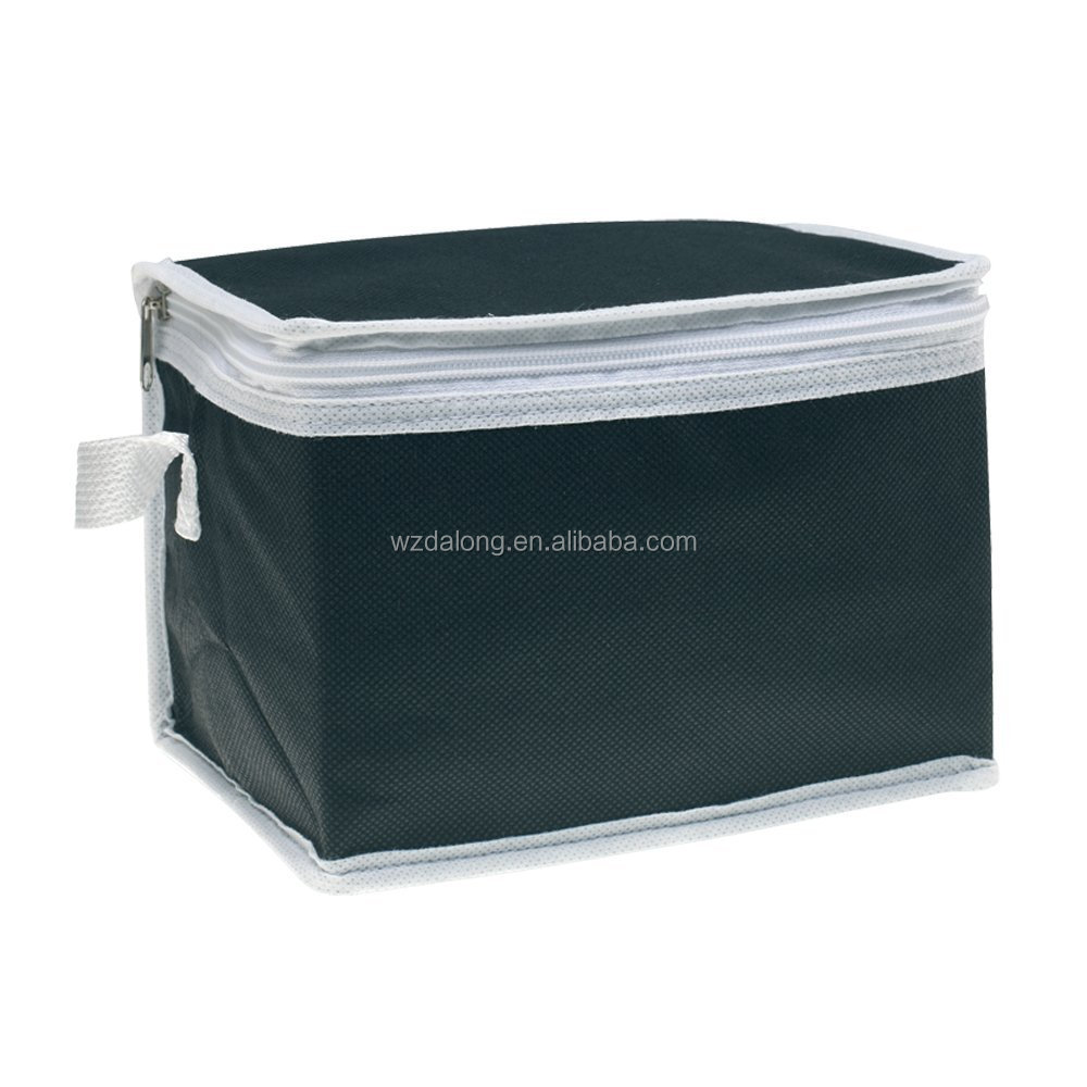 portable large insulated non-woven cooler bag box, disposable rolling cooler bag box medicine beer can lunch cooler bag