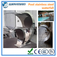 2016 hight hight hight Quality swimming pool sauna spa stainless steel waterfall