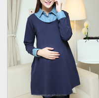 d83574f 2016 denim dress newest style maternity dresses for office