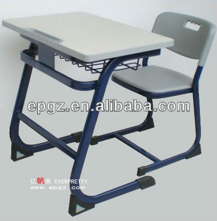 2013 New style Single student desk and chair,Table and seat for classroom student,New student wood desk and chair