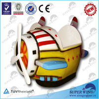 Helicopter electronic game kiddy ride machine