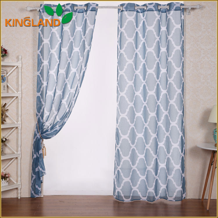 Eco-friendly paper printed bedroom curtains