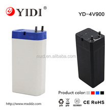 YD brand 4v 1.0ah sealed lead acid battery rechargeable for led torch and emergency light