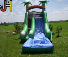 Guangzhou Factory Price Inflatable Palm Tree Water Slide with Pool