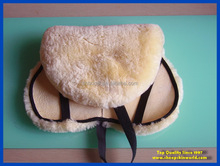 sheepskin horse equestrian saddle Pad thick wool best protection