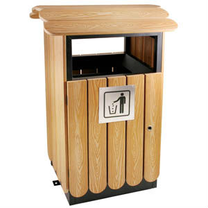 iron outdoor trash can garbage can lobby supplies - Outdoor Trash Cans