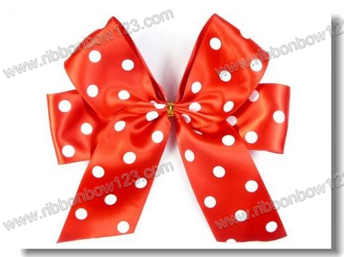 Dot Ribbon Bow Satin