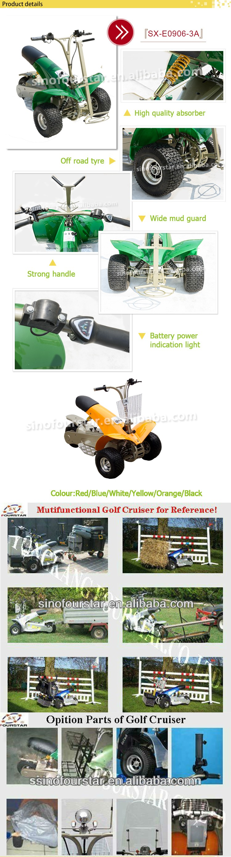 chinese foldable 3-wheel electric golf carts/speed cheap golf buggy for sale SX-E0906-3A