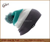 Mens Beanies Pom Poms Winter Hat